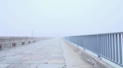 foggy road. fog. foggy street. blindness - stock footage