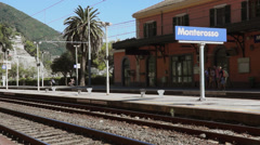 Scenes of the Monterosso Train Station (1 of 5) Stock Footage