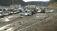 Japan Tsunami of 3-11 2011 Stock Footage