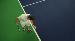 Tennis Serving - stock footage