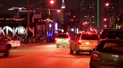 Dallas Street at Night Stock Footage