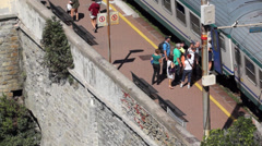 Train Station in Riomaggiore (1 of 5) Stock Footage
