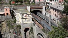 Train Station in Riomaggiore (2 of 5) Stock Footage