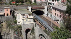 Train Station in Riomaggiore (4 of 5) Stock Footage
