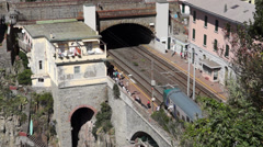Train Station in Riomaggiore (5 of 5) Stock Footage