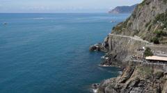 Coastal Riomaggiore (3 of 5) Stock Footage