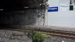 Train Station in Riomaggiore (3 of 5) Stock Footage
