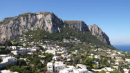 Stock Video Footage of View of the Isle of Capri off the Coast of Italy (1 of 2)