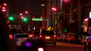 Stock Video Footage of Dallas Street at Night