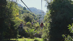View from the Mount Solaro Chair lift on the Isle of Capri (1 of 7) Stock Footage