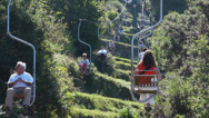 Stock Video Footage of View from the Mount Solaro Chair lift on the Isle of Capri (5 of 7)