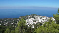 View from the Mount Solaro Chair lift on the Isle of Capri (6 of 7) Stock Footage