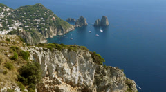 Scenes of the Faraglioni near the Isle of Capri (2 of 5) Stock Footage