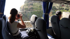Scenes from a bus ride along the Amalfi Coast (4 of 4) Stock Footage