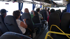 Scenes from a bus ride along the Amalfi Coast (2 of 4) - stock footage