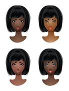 Makeup for african-american women Stock Illustration
