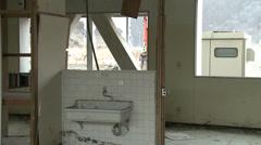 Japan Tsunami: Abandoned School - stock footage