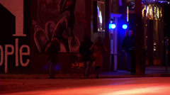 Clubgoers and Homeless Stock Footage