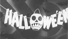 HALLOWEEN Trick or Treat Vintage Old Film Title Graphic Leader 8mm 7098 - stock footage