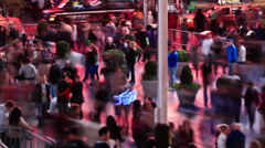 Times Square Time Lapse People Stock Footage