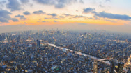 Stock Video Footage of Tokyo Cityscape Time Lapse Zoom