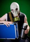 Ready for gas attack Stock Photos