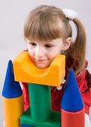 Pelaa pikkutyttö Kuvituskuvat