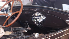 1930s old antique car interior Stock Footage