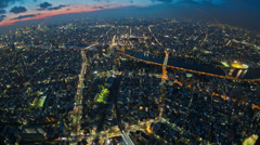 Stock Video Footage of Tokyo Cityscape Time Lapse