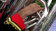 Stock Video Footage of Brass orchestra detail