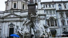Piazza Navona Rome Italy hyperlapse - stock footage