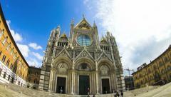 Cathedral of Siena time lapse Stock Footage