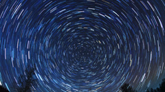 Star tracks. Fisheye. Time Lapse - stock footage