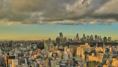 Tokyo Cityscape Time Lapse Pan HDR Stock Footage