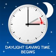 Time change to daylight saving time Stock Illustration