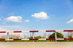 Traffic fence Stock Photos