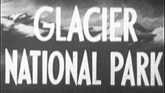 GLACIER NATIONAL PARK Vintage Film Natural Wonder Title Graphic Leader 8mm 7202 Stock Footage