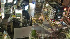 Tokyo Cityscape Time Lapse Zoom Stock Footage