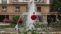 Fountain in Ferrol, Northern Spain Stock Footage