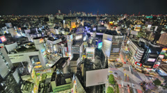 Tokyo Cityscape Time Lapse HDR Stock Footage