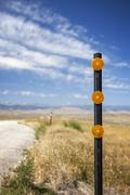road reflector - stock photo