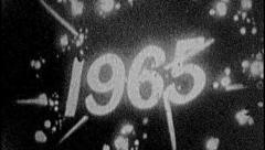 1965 YEAR Vintage Old 1960s Decade Film Title Graphic Calendar Leader 8mm 7105 Stock Footage
