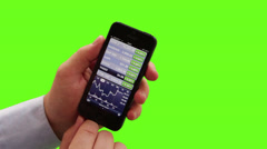 Green screen mobile phone addiction Stock Footage