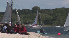 Boats and Tourists during Kiel Week Stock Footage
