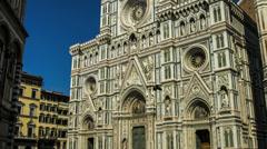 Florence Duomo plaza time lapse tour Stock Footage