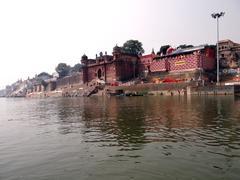 River Ganga & Banaras city Stock Photos