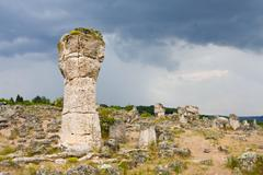 Phenomenon rock formations in bulgaria around beloslav - pobiti kaman Stock Photos