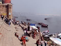 The River Ganga in Banaras Stock Photos