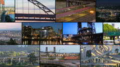 Video Montage Portland City Traffic - stock footage