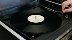 Vinyl disc playing 1 EDITORIAL Stock Footage